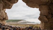 White Chalks Cliffs At Seven S...