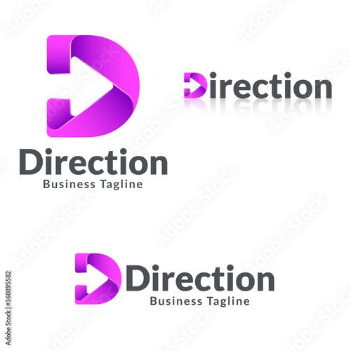 Papel de parede Letter D - Direction Logo