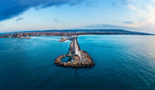 Aerial View Of Lighthouse At S...