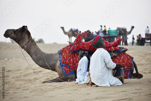 Photo musician of thar desert of rajasthan called manganiyars