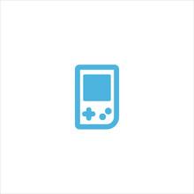 Game Boy Icon Flat Vector Logo...