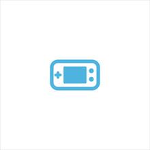 Game Boy Icon Flat Vector Logo Design Trendy