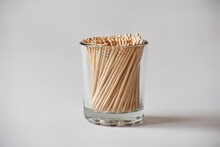 Stack Of Toothpicks In White