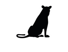 Black Silhouette Adult Lioness...