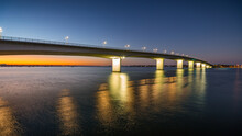 Sarasota's Circus Bridge Leads To Longboat Key At Sunrise