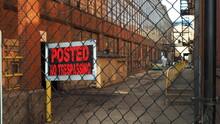 Trespassing Sign At An Abandon...
