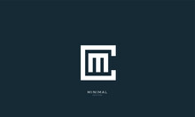 Alphabet Letter Icon Logo CM Or MC