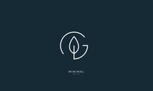 Alphabet Letter Icon Logo G With A Leaf