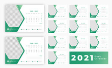2021 Desk Calendar Design