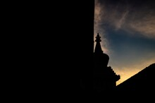 Silhouette Of The Church Under...