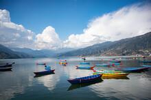 Colorful Bort On Pokhara Lake ...