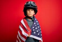 Young Little Patriotic Kid Wea...