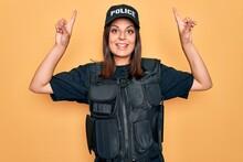 Young Beautiful Brunette Polic...