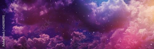 Fotografie, Obraz Night sky with stars.