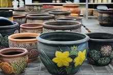 Lot Of Ceramic Handmade Plante...