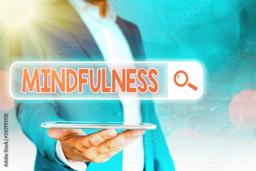 Handwriting text Mindfulness Wallpaper Mural