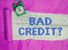 Writing Note Showing Bad Credi...