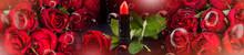 Róże Na Tle Abstrakcji  | Ro...