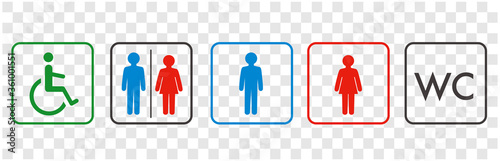 Fotografie, Obraz icon of toilet restroom wc vector