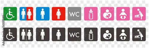 Fototapeta icon of toilet restroom wc vector