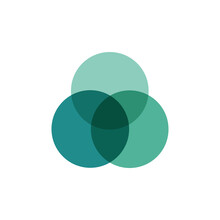 Three Overlapping Circles. Venn Diagram Infographics For Three Circle Design Vector And Marketing Can Be Used For Workflow Layout, Annual Report, Web Design. Business Concept With Steps Or Processes