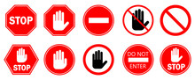 Red STOP Sign Isolated. Vector...