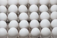 Close Up Shot Of An Egg Carton In A Black Background