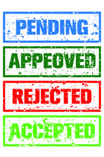 Accepted Rejected Accepted Pending Stamps