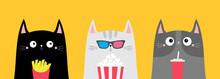 Cat Set. Popcorn, Soda, French...