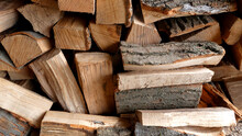 Logs Of Seasoned Ash And Beech...