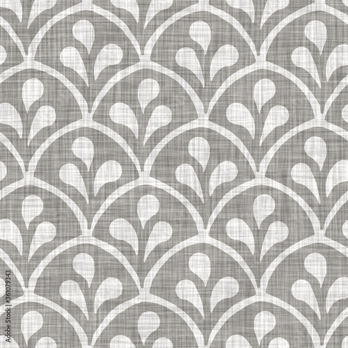 Tapety do Garderoby  natural-gray-french-woven-linen-texture-background-old-ecru-flax-leaf-motif-seamless-pattern