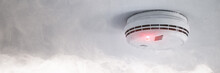 Smoke Detector In Case Of Fire Alarm As Fire Protection Warning