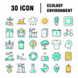 ENVIRONMENT AND ECOLOGY ICON SET