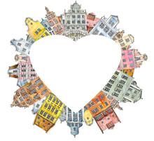 Heart Frame Multi-colored Retr...