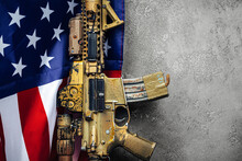 U.S. Battle Flag And Assault R...
