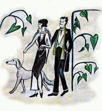 Drawing Of An Elegant Couple  ...