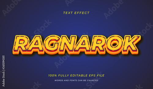 фотография Ragnarok text effect
