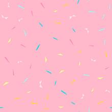 Seamless Background. Pink Donu...