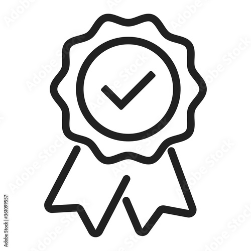 Fényképezés Warranty certificate badge. Vector isolated approve icon.