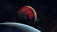 Exoplanet In Space. Elements Of This Image Furnished By NASA
