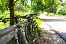 Closeup Mountain Bike With Sof...