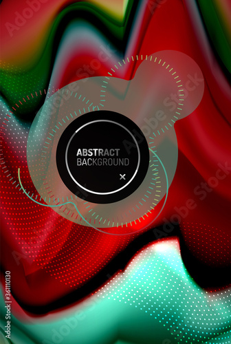 Liquid gradients abstract background, color wave pattern poster design for Wallpaper, Banner, Background, Card, Book Illustration, landing page