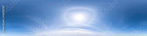 Fotografie, Tablou clear blue sky with halo sun