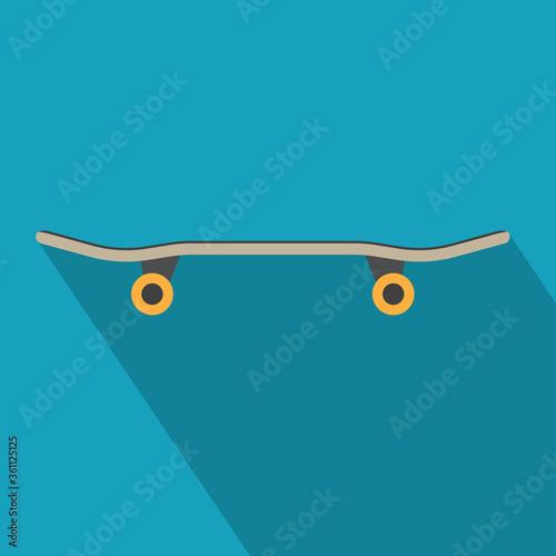black skateboard icon- vector illustration Canvas-taulu