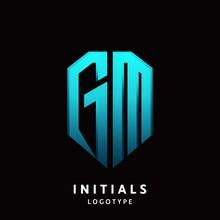 GM Initial Letter Logo Design ...