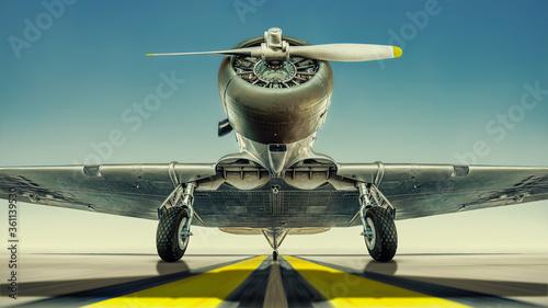Fotografía historical aircraft on a runway