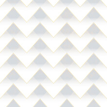 White Zigzag Seamless Pattern.