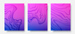 3D vector layout template on blue and purple gradient background. Futuristic poster template. Retro futuristic landscape background in 1980s style. Electronic music fest. color waves