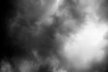 Dark Smoke On Black Background