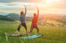 Yoga In Nature, Fresh Air In P...